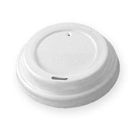 Крышка для бумажного стаканчика, 73 мм, цвет белый