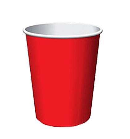 Стаканчик бумажный для горячих напитков, красный