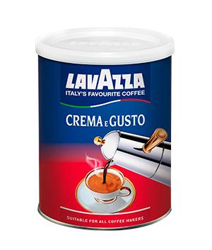 Кофе молотый Lavazza Crema-e-Gusto банка 250 г.