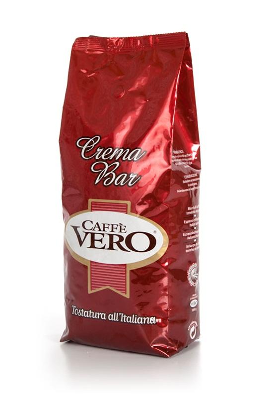 Кофе в зернах Caffè Vero Crema Bar 1,0 кг.