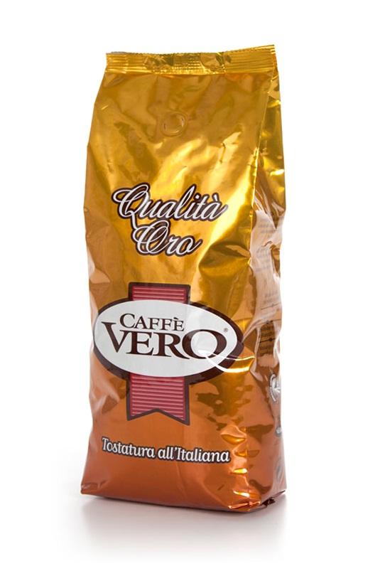 Кофе в зернах Caffè Vero Qualita Oro 1,0 кг.