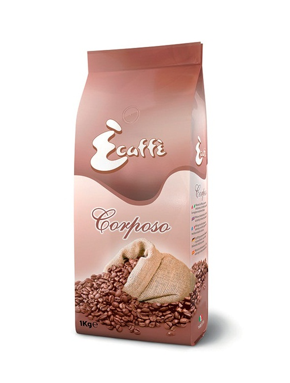 Кофе в зернах Ecaffe Corposo 1,0 кг.