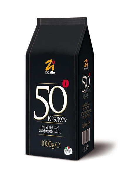 Кофе в зернах Zicaffe Cinquantenario 1,0 кг.