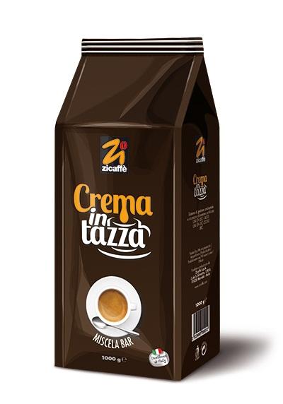 Кофе в зернах Zicaffe Crema in tazza 1,0 кг.
