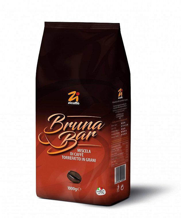 Кофе в зернах Zicaffe Linea Bruna (Bruna bar) 1,0 кг.