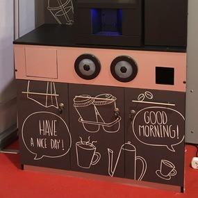 Тумба кофейный уголок NERO с возможностью установки платежных систем