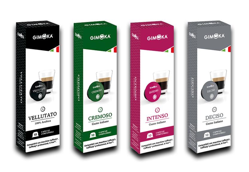 Кофе в капсулах Gimoka формата Caffitaly system, в ассортименте