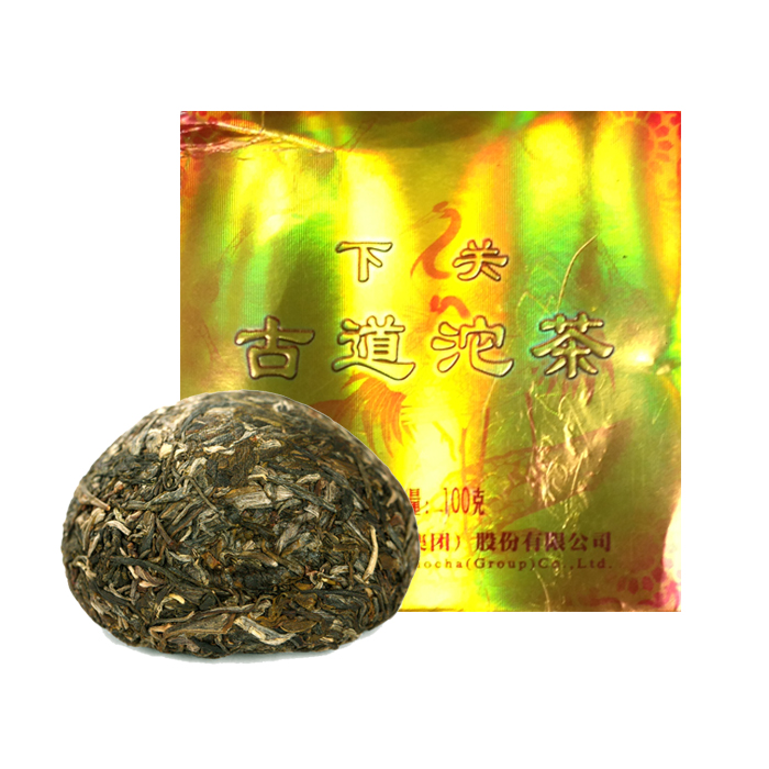 Чай Шен пуэр Древняя дорога фабрика Сягуань сбор 2011 г. 92-100 гр. (то ча)