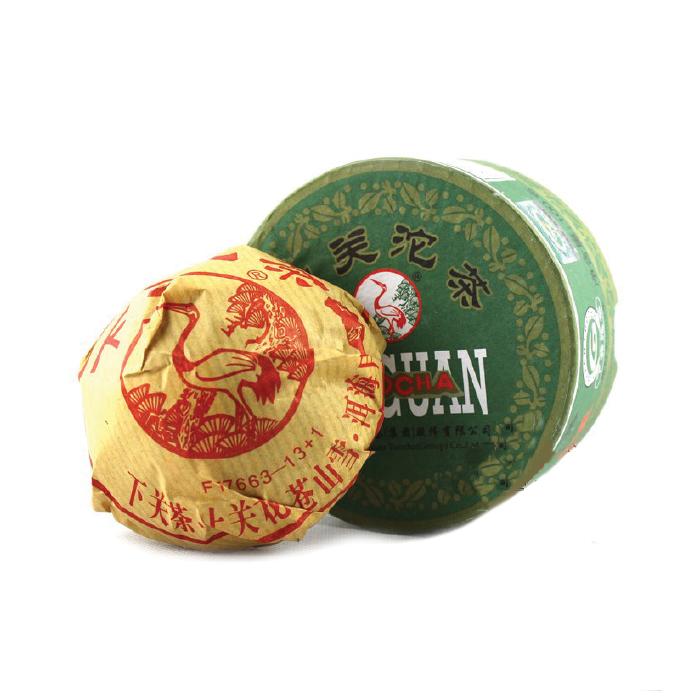 Чай Шен пуэр фабрика Сягуань сбор 2014 г. 92-100 гр. (то ча)