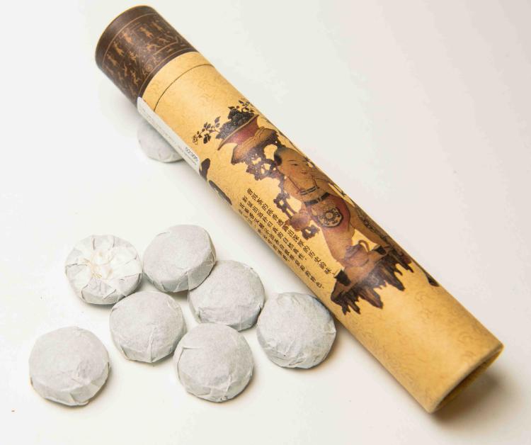 Чай Шу пуэр сбор 2012 г., 60гр. (упаковка 15 шт. x 4гр.) мини - точа