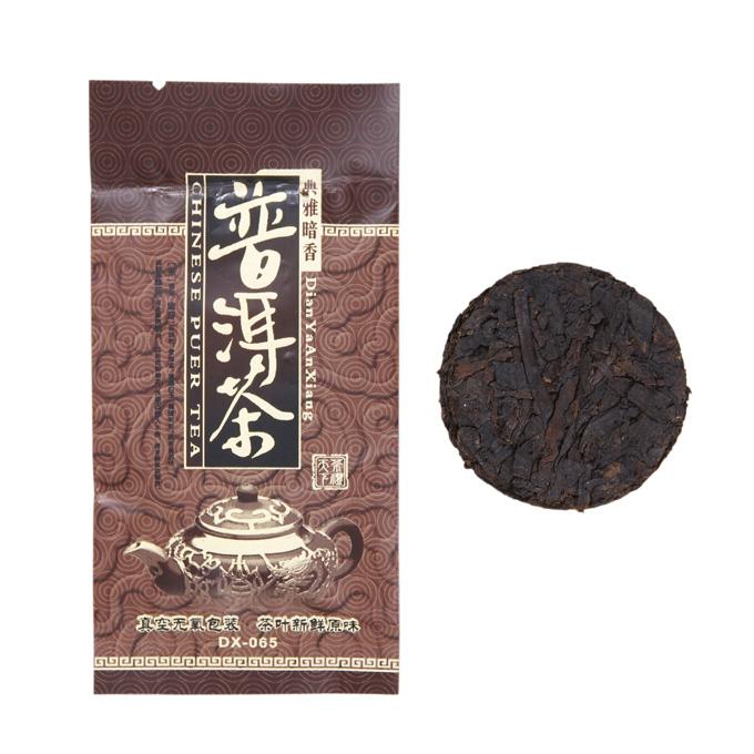 Чай китайский элитный шу пуэр многолетний таблетка 8гр.