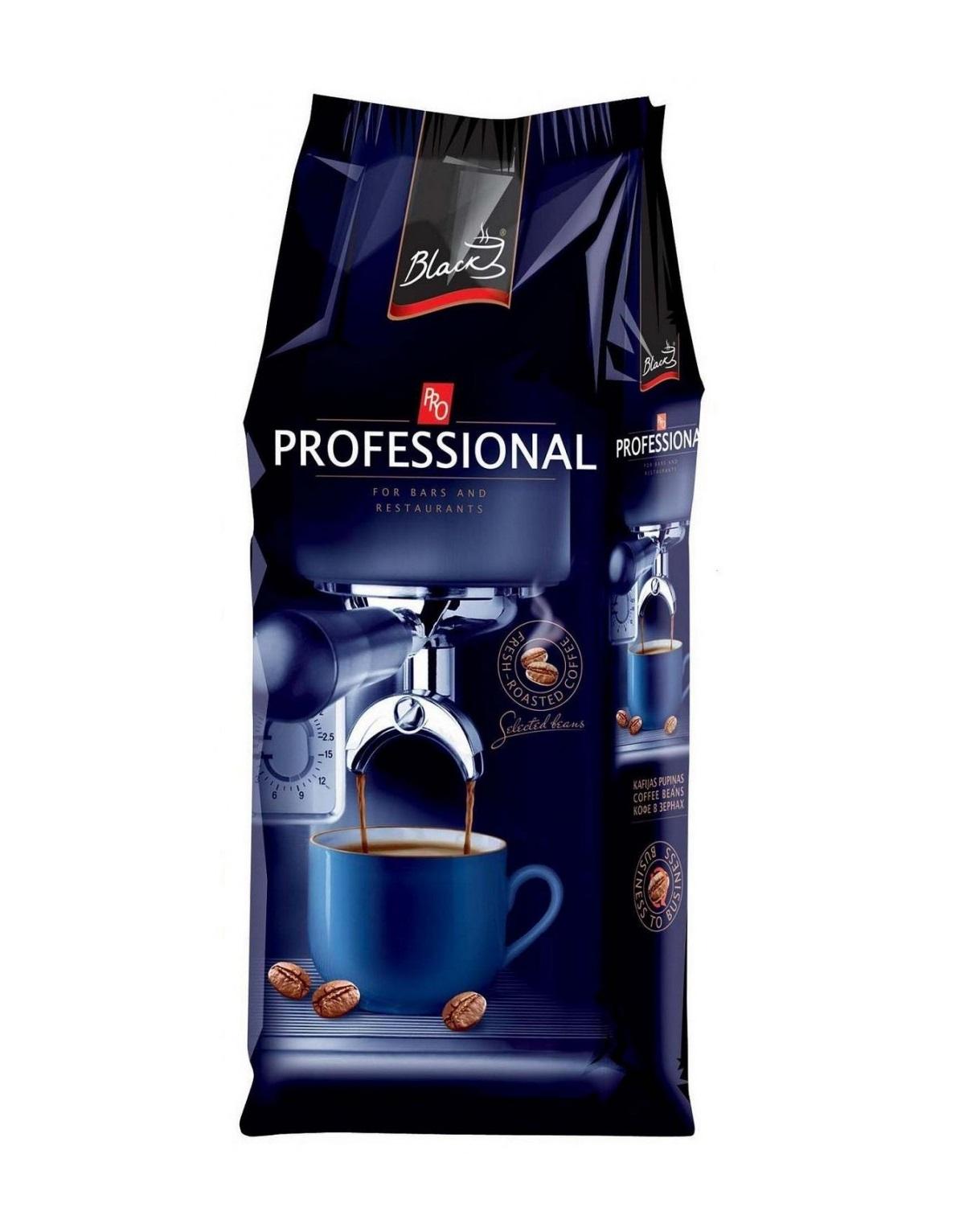 Кофе в зёрнах  Black Professional, в ассортименте, 1,0 кг.