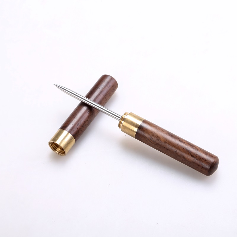 Нож для колки Пуэра (шило) в футляре