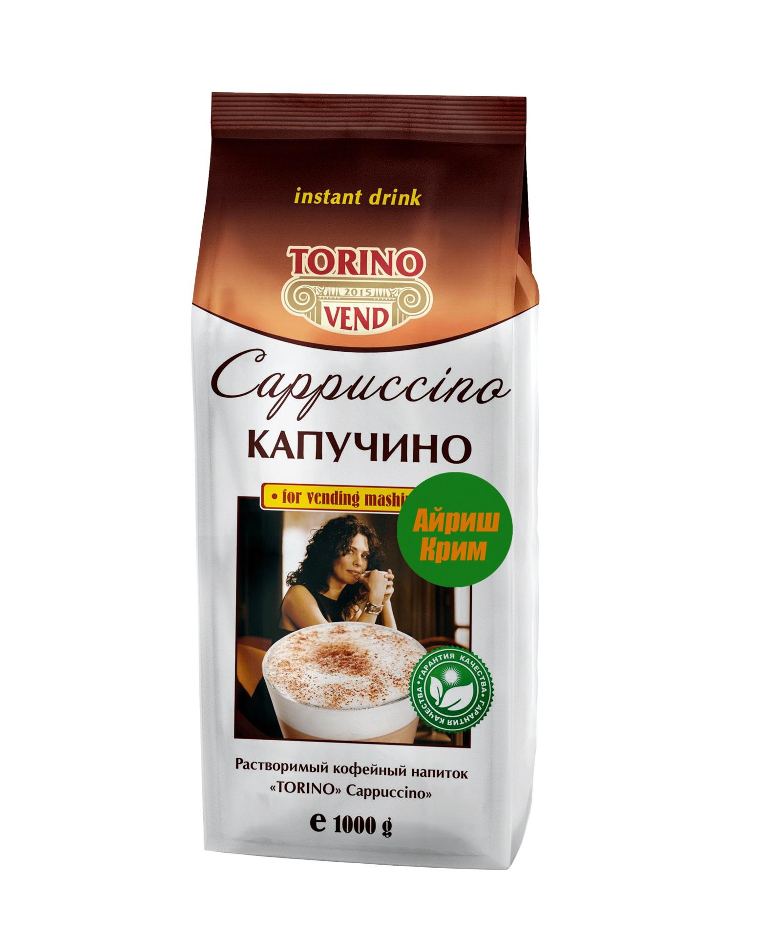 Кофейный напиток TORINO Капучино Айриш Крим 1,0 кг