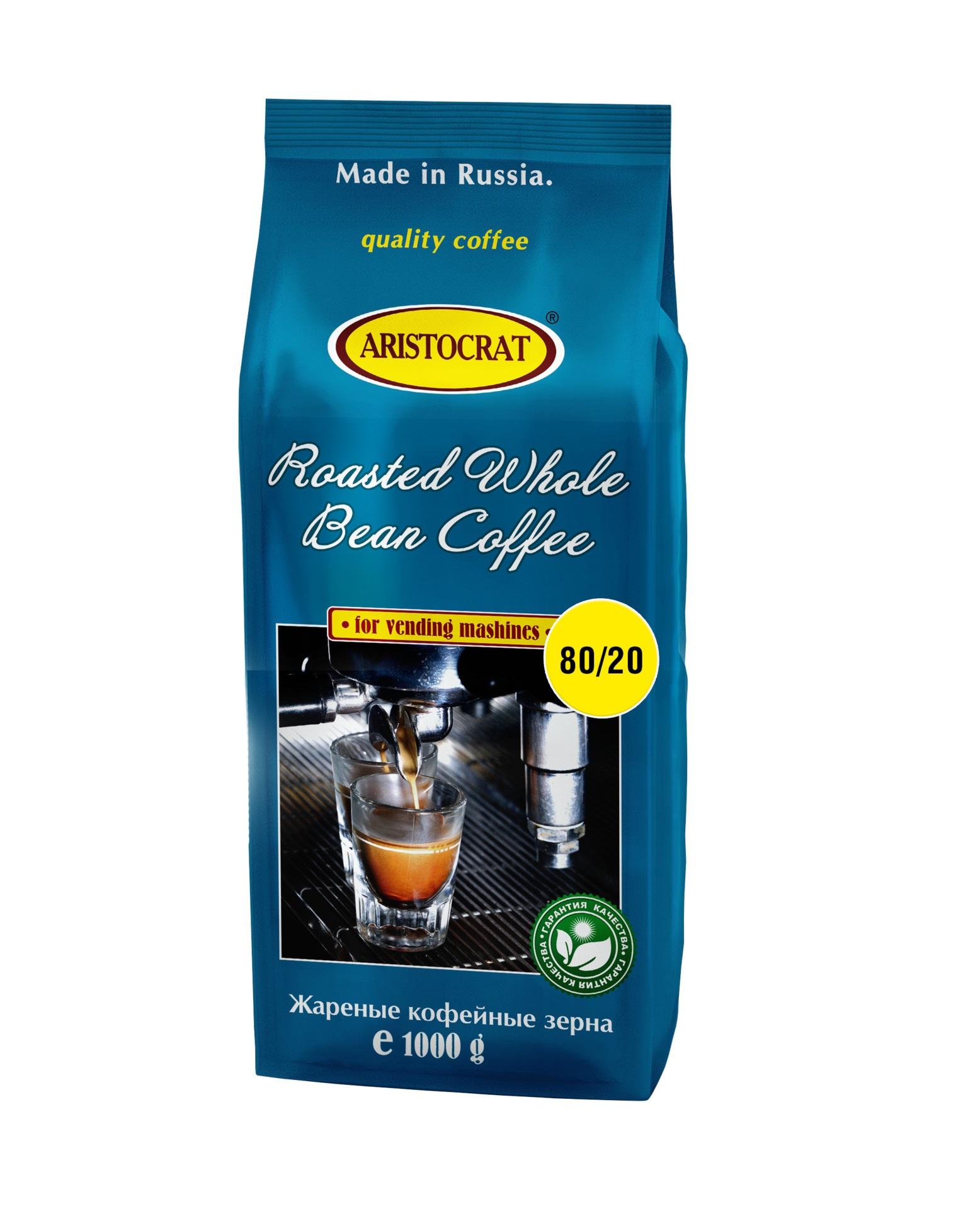 Кофе зерновой ARISTOCRAT 20-80, 1,0 кг