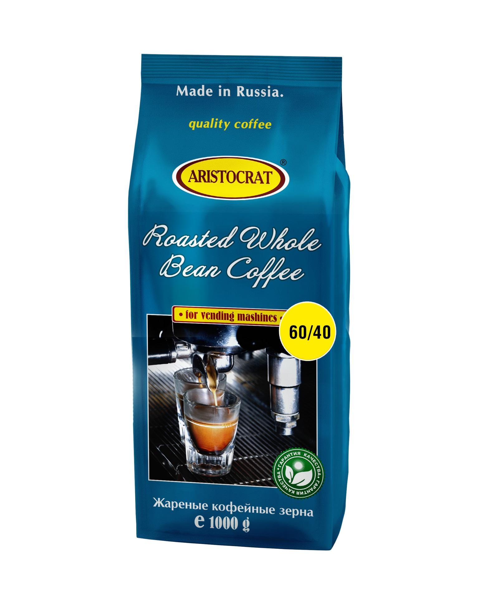 Кофе зерновой ARISTOCRAT 40-60, 1,0 кг