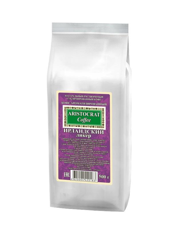 Кофе сублимированный ароматизированный ARISTOCRAT Ирландский ликер 0,5 кг