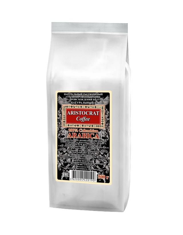 Кофе сублимированный ARISTOCRAT 100 Сolombian Arabica 0,5 кг