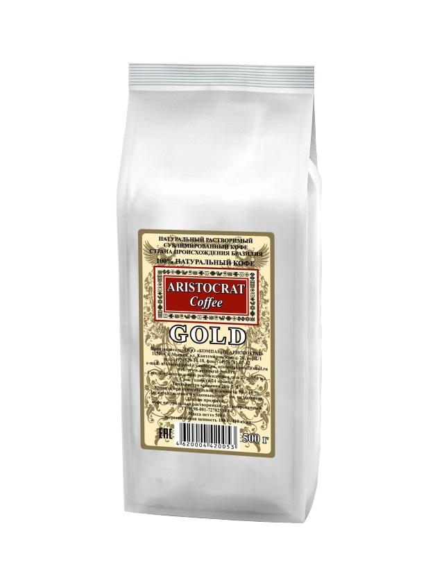 Кофе сублимированный ARISTOCRAT Gold 0,5 кг