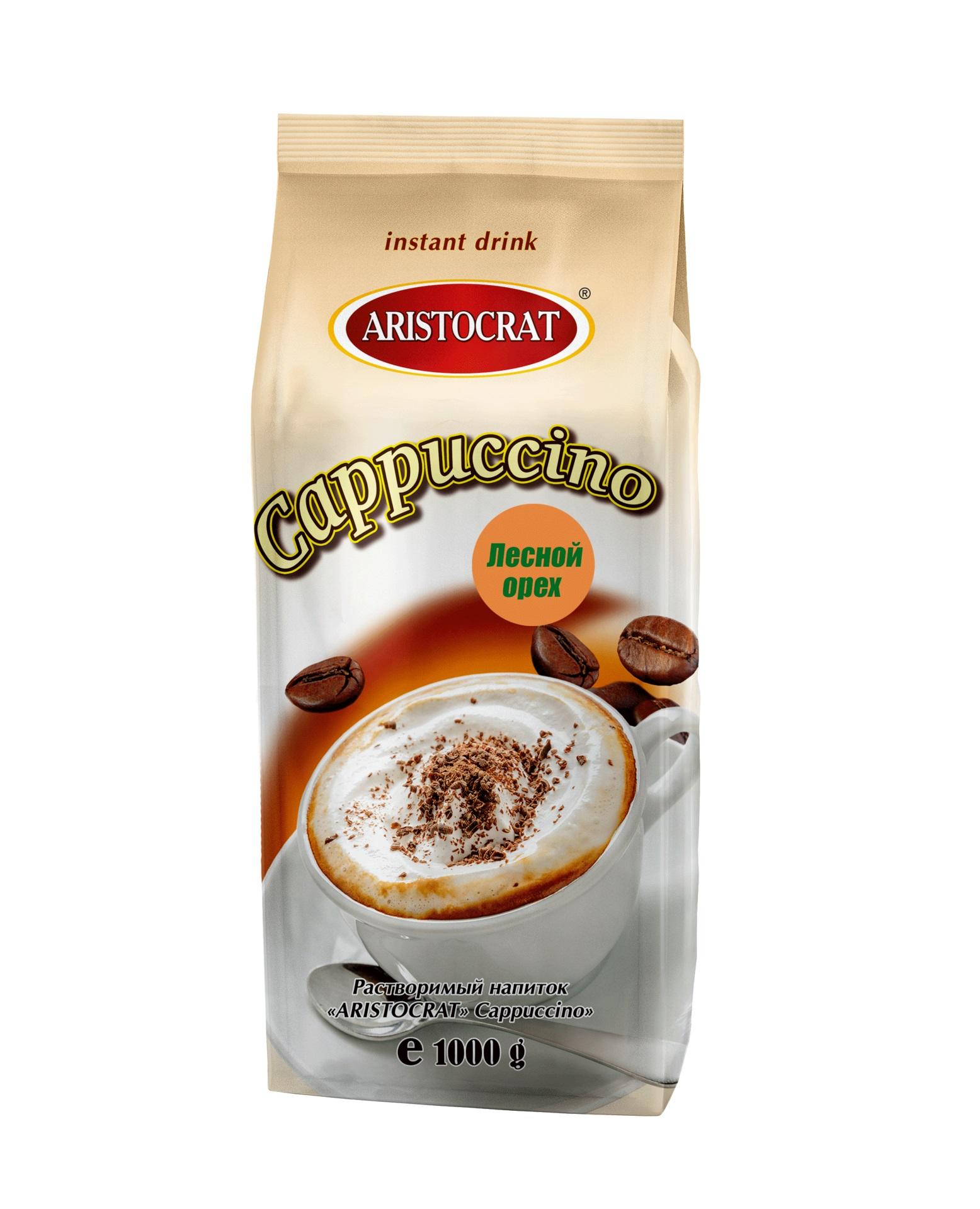 Напиток растворимый ARISTOCRAT Капучино Лесной Орех 1,0 кг.