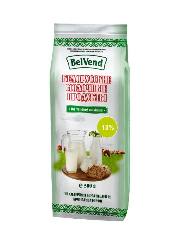 Сухое агломерированное молоко BelVend 13 процентов, 0,5 кг.
