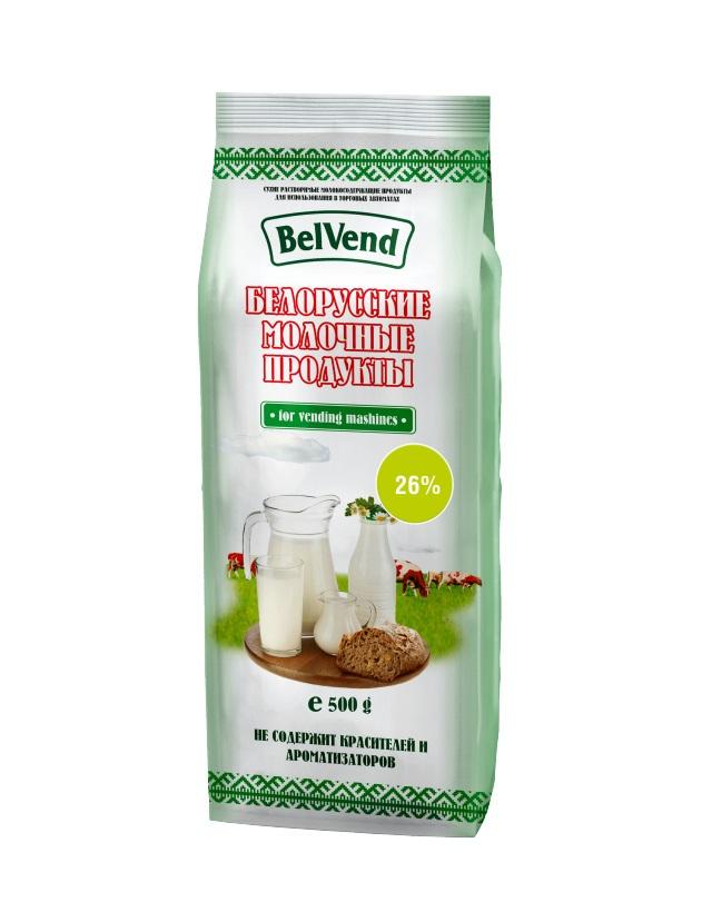 Сухое агломерированное молоко BelVend 26 процентов, 0,5 кг.
