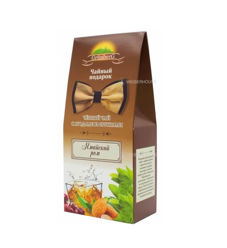 Чай Grunberg Ямайский ром (чёрный ароматизированный), в подарочной упаковке 100гр.