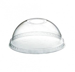 Крышка прозрачная купольная с отвер. Стиролпласт 95 мм. «шейкер»