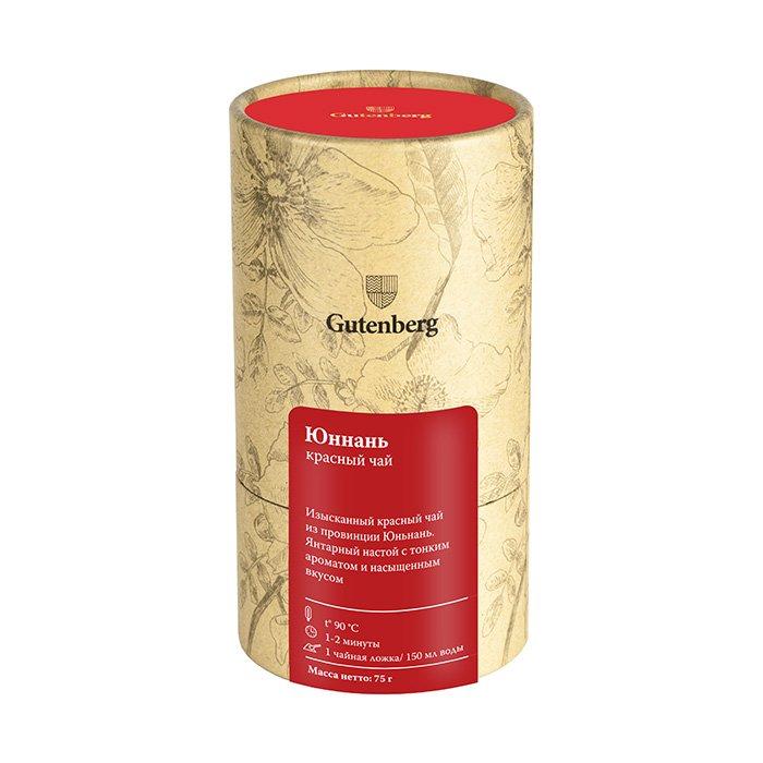 Чай красный в тубусе Gutenberg «Юньнань FOP», 75 г
