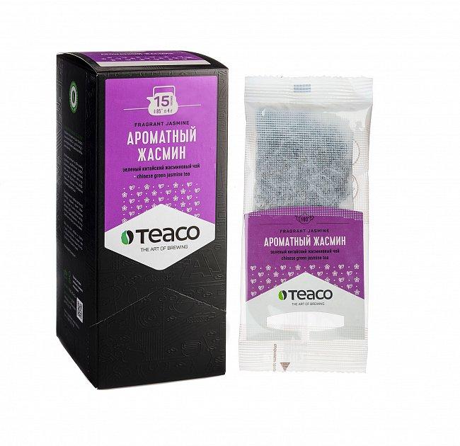 Чай Teaco АРОМАТНЫЙ ЖАСМИН пакетированный, для заваривания в чайнике