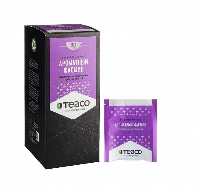 Чай Teaco Ароматный жасмин пакетированный, для заваривания в чашке