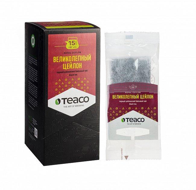 Чай Teaco ВЕЛИКОЛЕПНЫЙ ЦЕЙЛОН пакетированный, для заваривания в чайнике