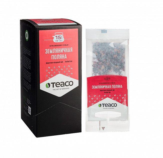 Чай Teaco ЗЕМЛЯНИЧНАЯ ПОЛЯНА пакетированный, для заваривания в чайнике