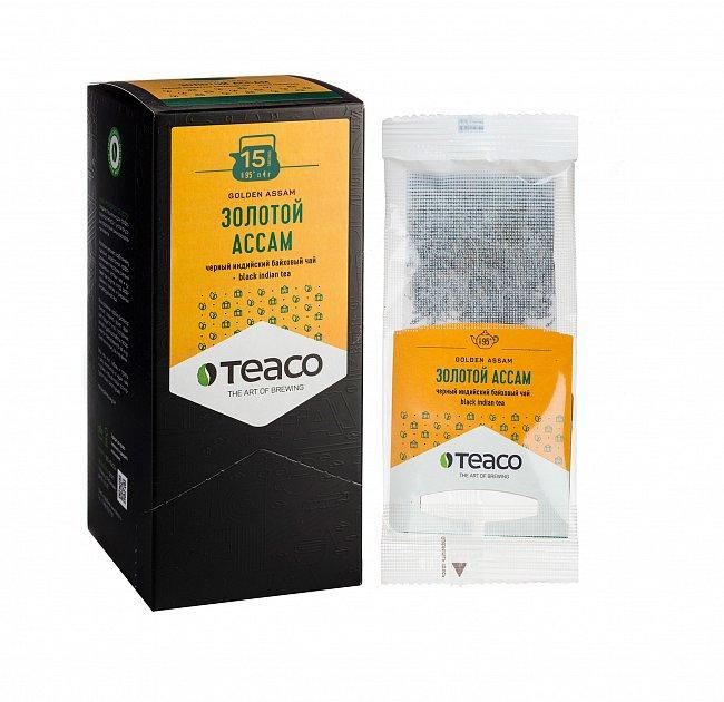 Чай Teaco ЗОЛОТОЙ АССАМ пакетированный, для заваривания в чайнике
