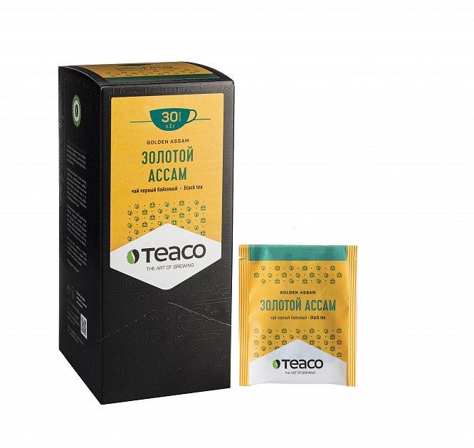 Чай Teaco ЗОЛОТОЙ АССАМ пакетированный, для заваривания в чашке