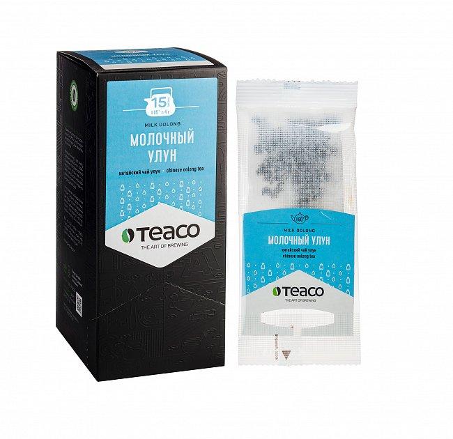 Чай Teaco МОЛОЧНЫЙ УЛУН пакетированный, для заваривания в чайнике