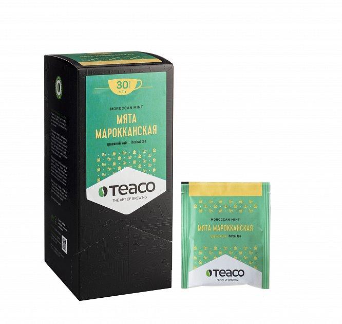 Чай Teaco МЯТА МАРОККАНСКАЯ пакетированный, для заваривания в чашке