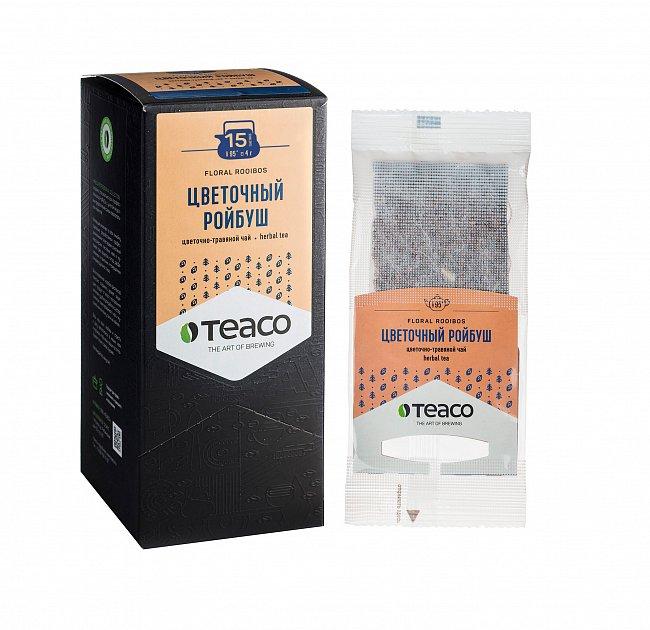 Чай Teaco ЦВЕТОЧНЫЙ РОЙБУШ пакетированный, для заваривания в чайнике