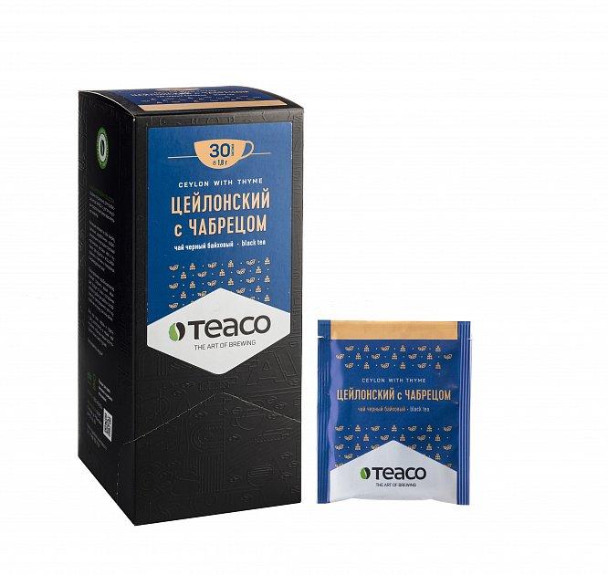 Чай Teaco ЦЕЙЛОНСКИЙ С ЧАБРЕЦОМ пакетированный, для заваривания в чашке
